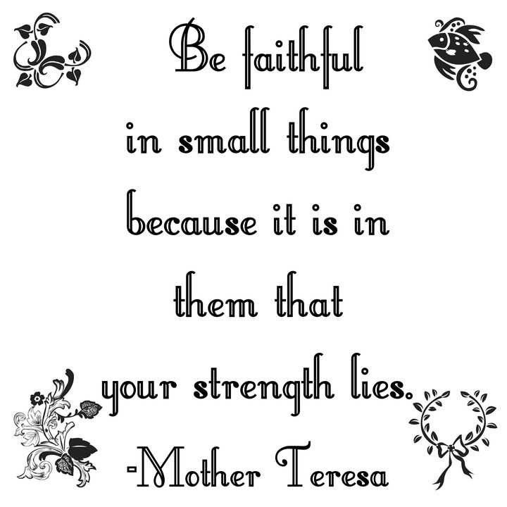 Faithful in small things - Perfect designers