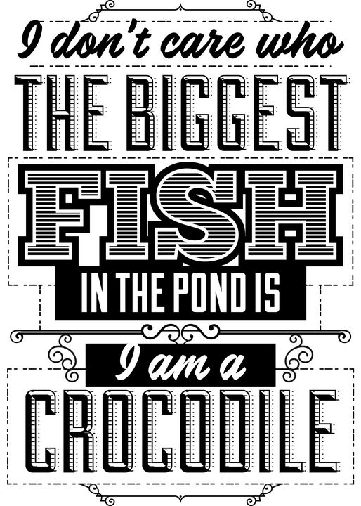 Biggest fish in the pond - Perfect designers