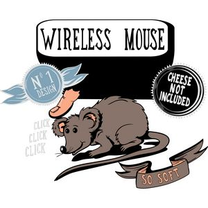 Wireless mouse cheese not included