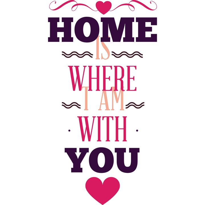 Home is where I am with you heart - Perfect designers