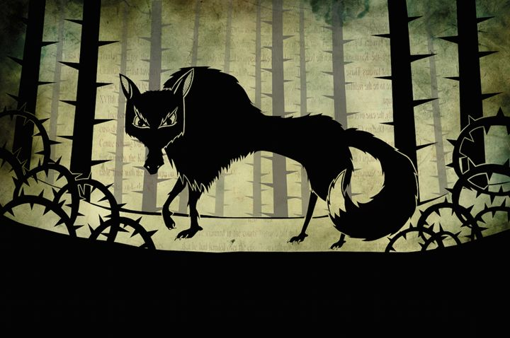 Wolf in the Woods - Joseph Griffin Art
