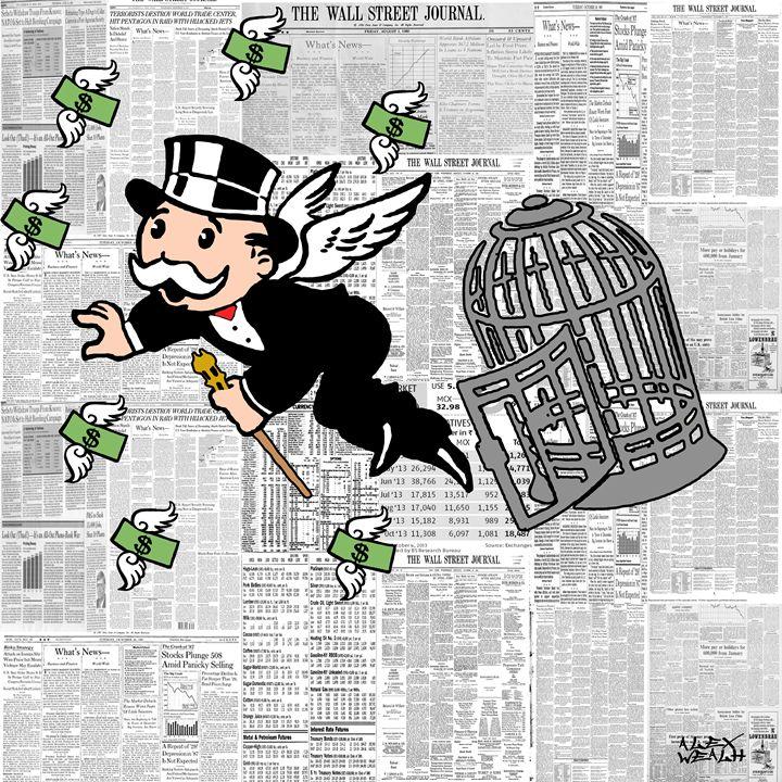 money flies - Alex Wealth art