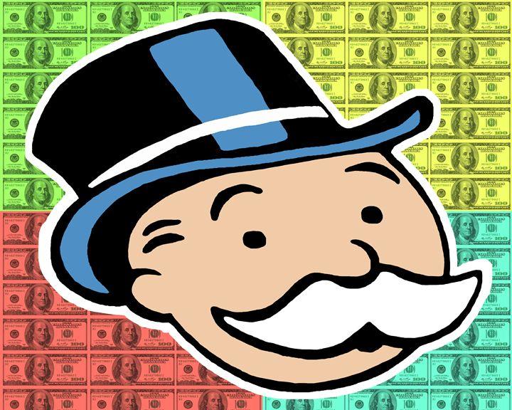 dollar monopoly guy - Alex Wealth art