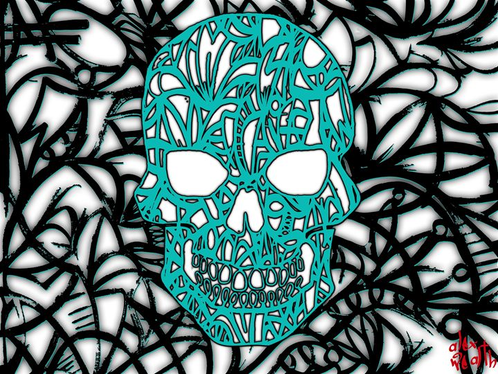 Blue skull - Alex Wealth art
