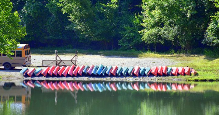 Reflection Kayak Boats - Desimay's Fine Art