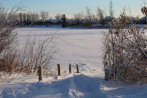 Frozen lake, Blainville