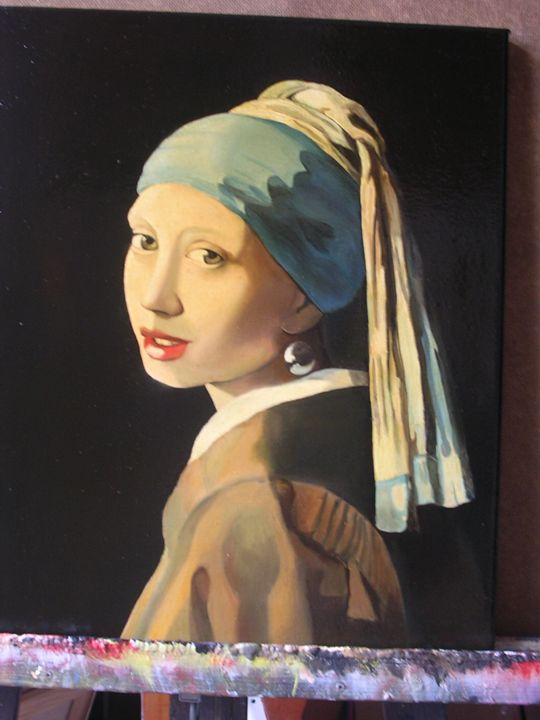 Vermeer-Girl with a pearl earring - Jaroslav Jerry Svoboda