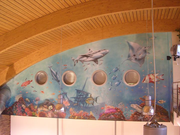 Mural-bowling centre - Jaroslav Jerry Svoboda