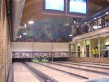 Mural airbrush for bowling centre