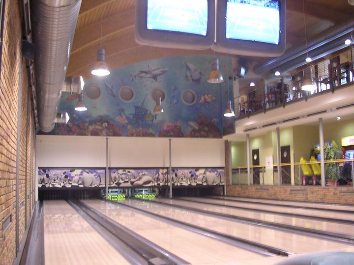 Mural - bowling number - Jaroslav Jerry Svoboda