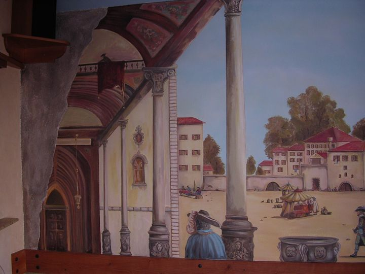 Mural-pizza restaurant - Jaroslav Jerry Svoboda
