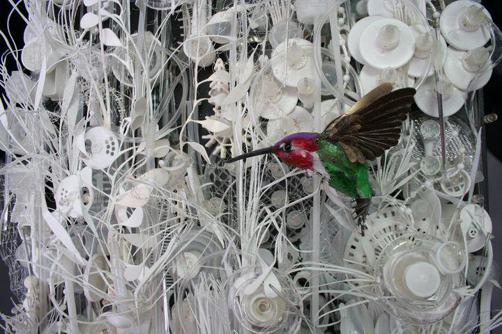 Anna's Hummingbird -  Waste Plastic - sandie m sutton