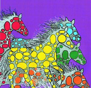 Four Polka Dot Ponies