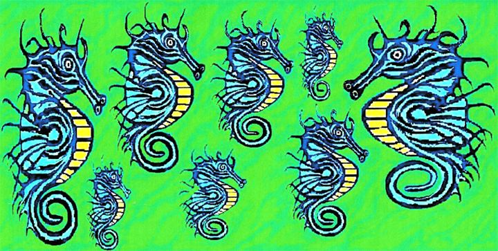 Abstract Seahorses - Chris Pick