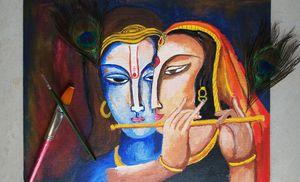 Painting of Radha Krishna