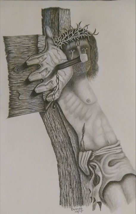 Jesus on the Cross - DWOOD