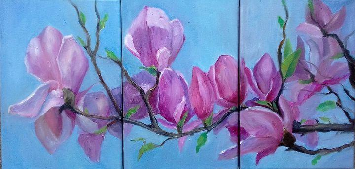 magnolia blossom - Arte de Tatiana Tarasova