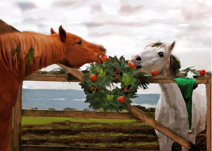CHristmas card - WILD ART BY MELINDA