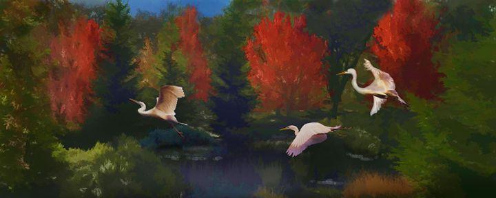 Autumn Flight - WILD ART BY MELINDA