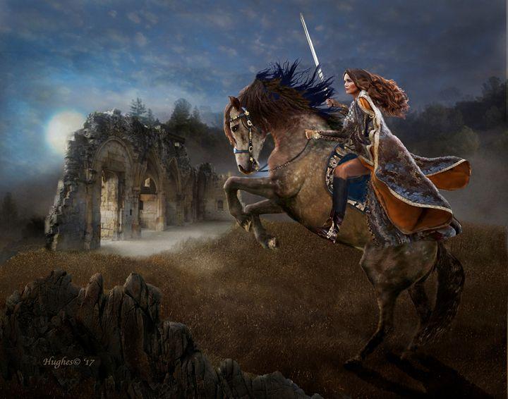 A Knight Lady - WILD ART BY MELINDA
