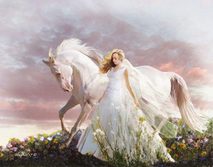 Lady in White - WILD ART BY MELINDA