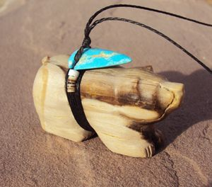 Bear carving necklace