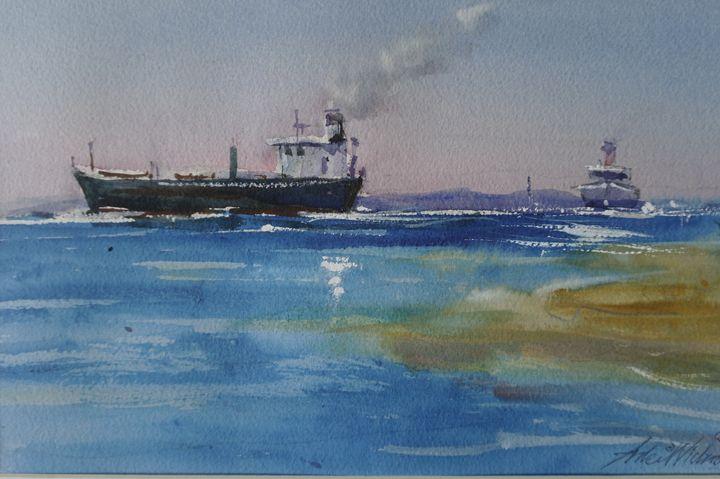 Incoming Ships - anki wickison art