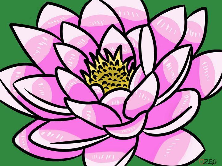 Pretty pink lotus - Heart Z Artsy