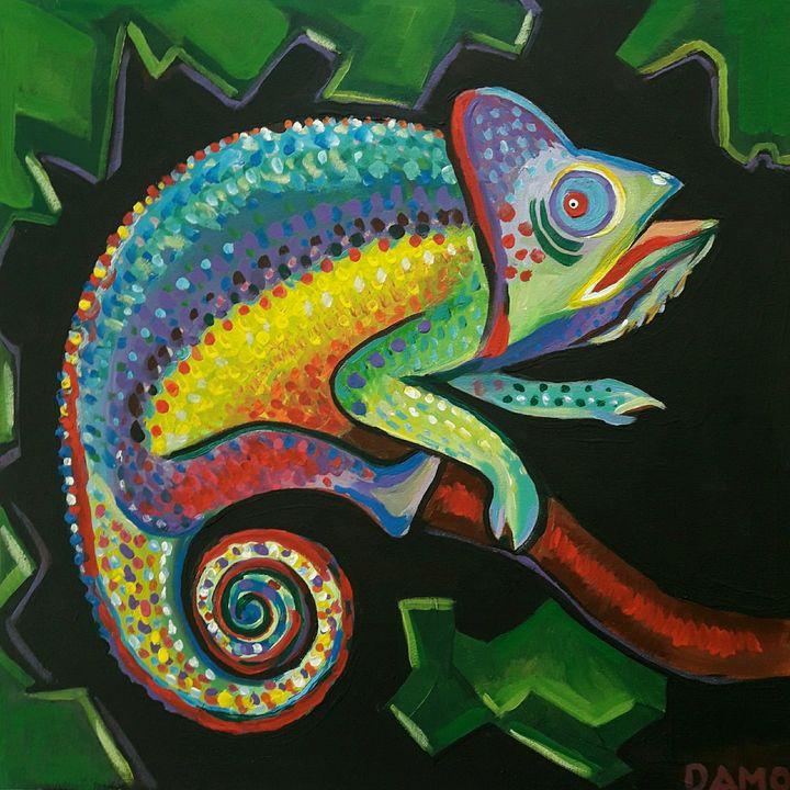 colorful cameleon - damo