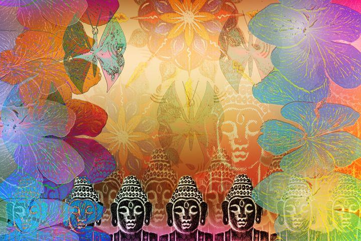 Colage Budha - Fine Art Bruna