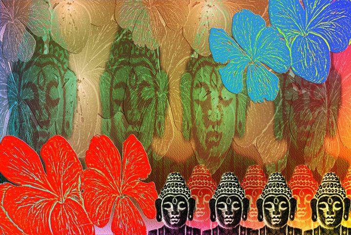 Budha in Colors - Fine Art Bruna