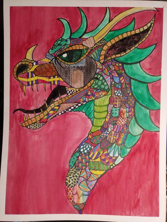 Dragon Zentangle - ShayDesigns
