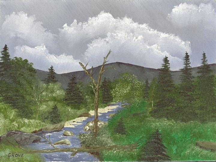 Fallen Timber by the Stream - Samuel Grove