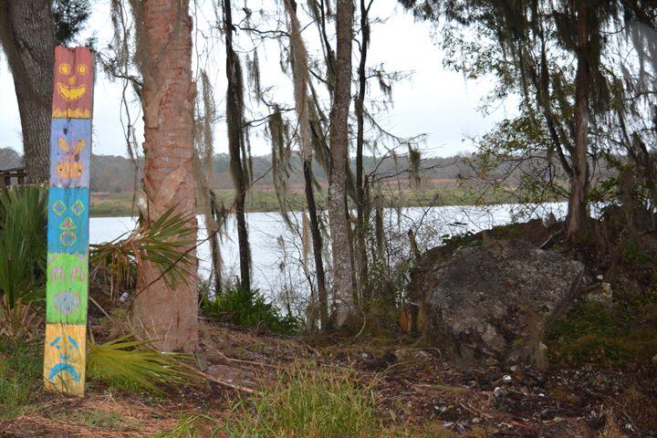 Totem Pole in Forest - Sasha Kendrick Art
