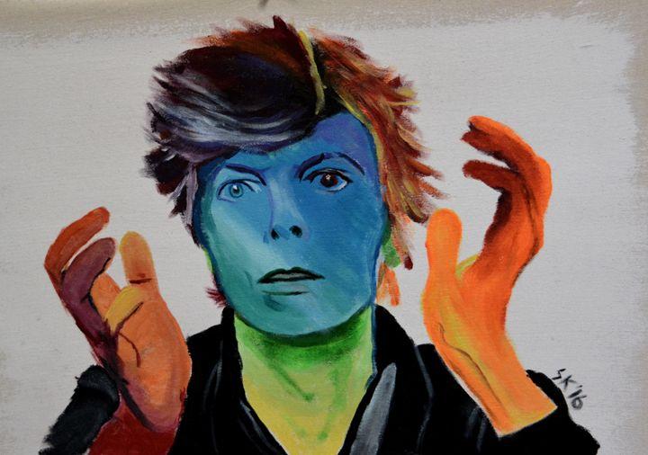 Bowie - Acrylic on Canvas - Sasha Kendrick Art