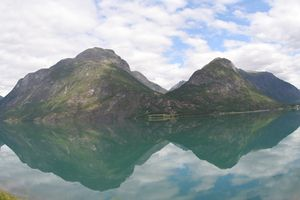 Reflections on the fjord