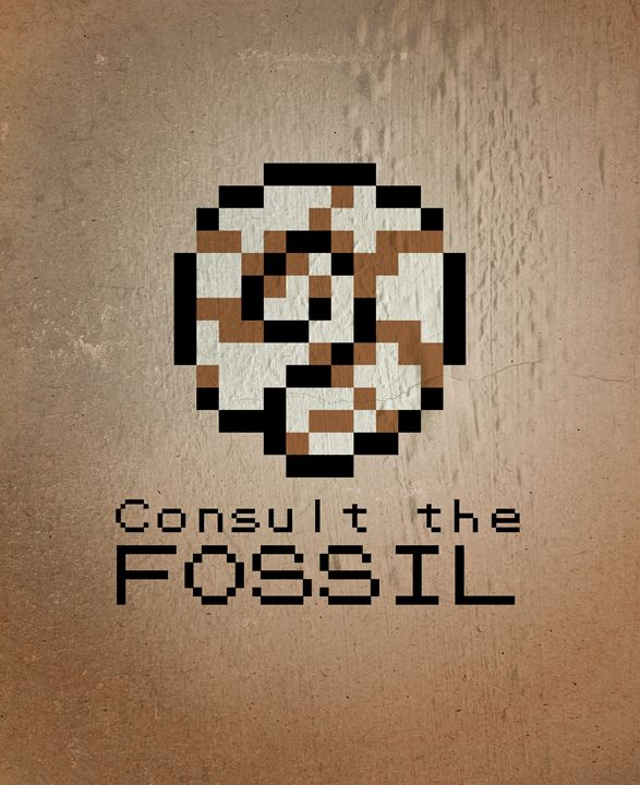 CONSULT THE FOSSIL! - Original art.