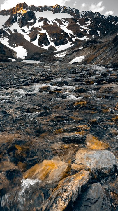 Mountain River - Original art.