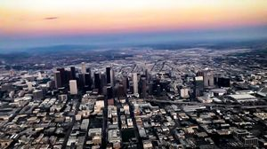 Sun setting on the City of Angels