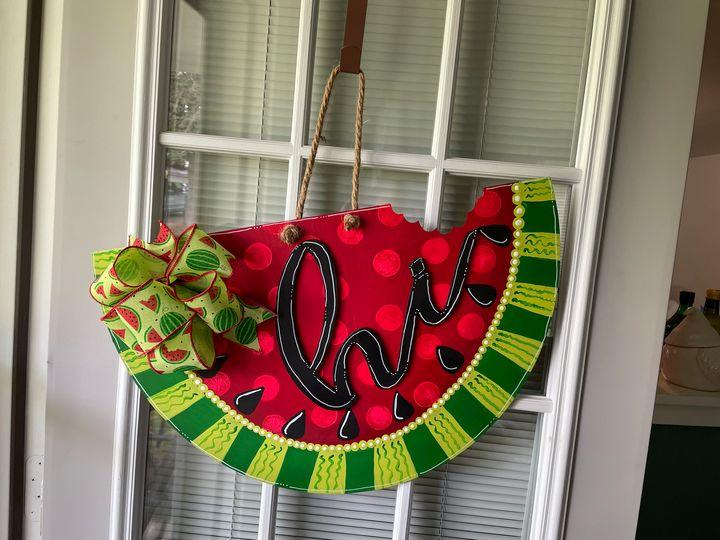 Watermelon Door hanger - The Tin Lantern