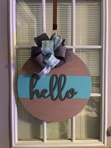Hello Dots Door Hanger