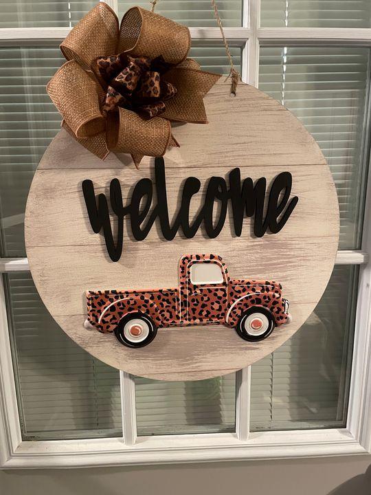 Leopard Truck Door Hanger - The Tin Lantern