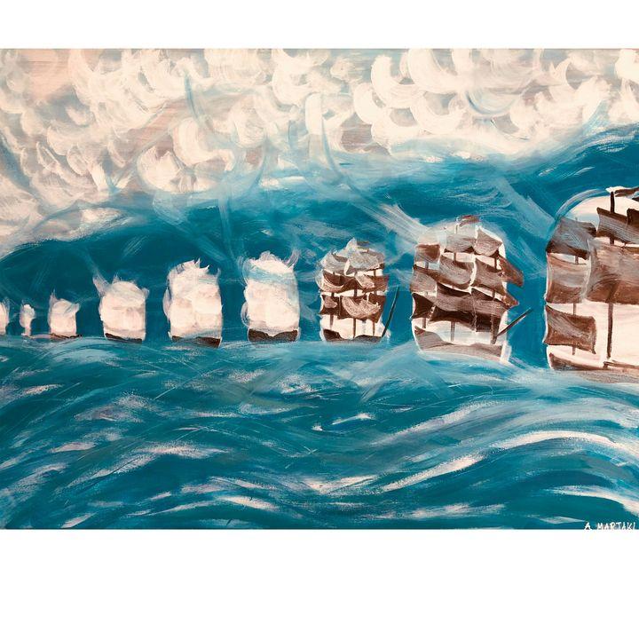 water flows - Arietta's paintings