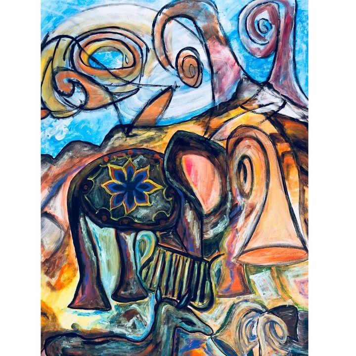 elephant mystic - Arietta's paintings