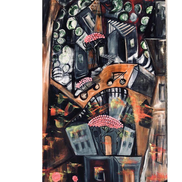 city flow - Arietta's paintings