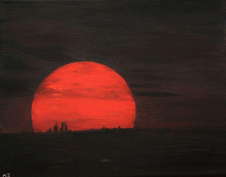 Super Blood Moon  - Rare Celestial E - Olga Zavgorodnya