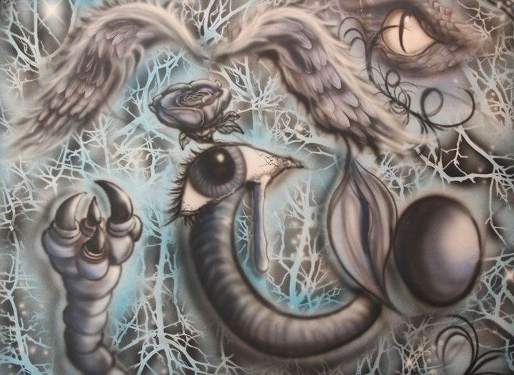 Danger of Love - Airbrush, Photography & Drawing Artistry
