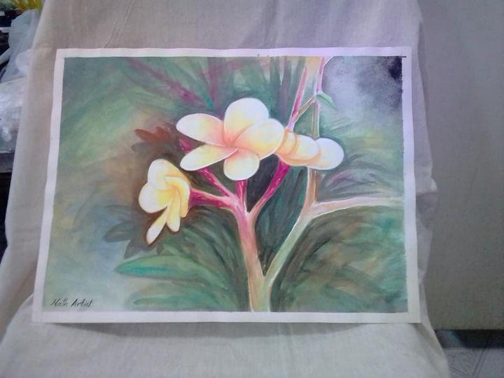 Plumeria water color - Nath Art