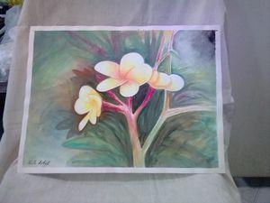 Plumeria water color
