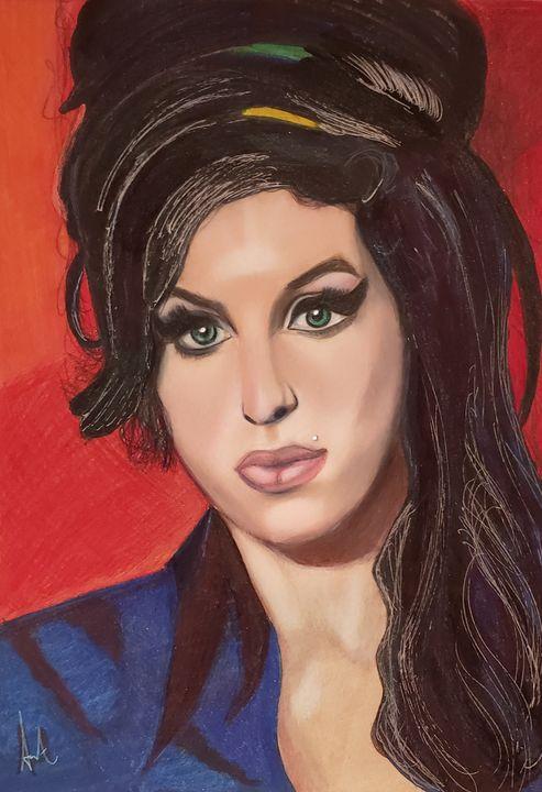 Amy Winehouse Portrait - Creative Yogi Soul